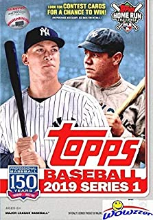 2019 Topps Series 1 MLB Baseball EXCLUSIVE HUGE Factory Sealed 67 Card Hanger Box with 1984 Topps Baseball & Topps Insert Cards! Loaded with Rookies & Inserts! Look for Autographs & Relics! WOWZZER!
