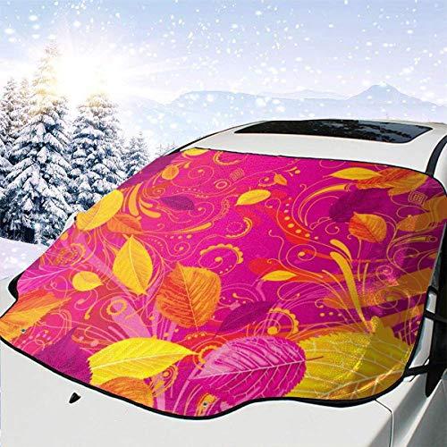Autemn Peony Background Red 0 Parabrisas de Coche Cubierta de Nieve Cubierta de Hielo Parabrisas Parasol Protector de Parabrisas Impermeable para Camiones Suvs