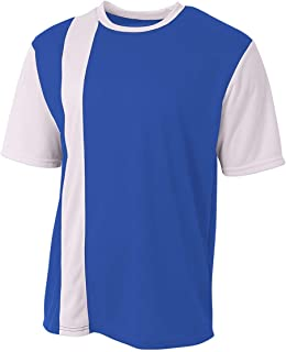 A4 Sportswear Soccer Front-Striped 2-Color Moisture Wicking Lightweight Breathable Mesh Jersey