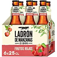 Ladrón de Manzanas Red Berries Cider - Pack de 6 Botellas x 250 ml (Total: 1.5 L)
