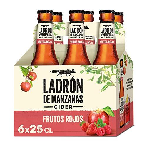 Ladrón de Manzanas Red Berries Cider, Botella 6 x 250ml