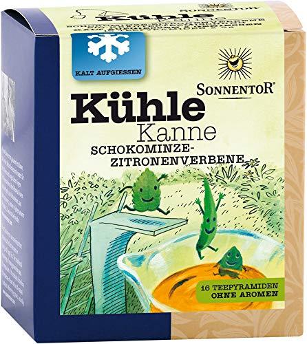 Sonnentor Bio Kühle Kanne Schokominze-Zitronenverbene Tee bio (6 x 16 Btl)