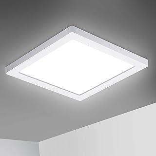 Oeegoo - Lámpara LED de techo ultrafina, 1,4 cm, 12 W, 960 lm, sin parpadeos, para oficina, dormitorio, salón, habitación de los niños, cocina, balcón, pasillo, color blanco neutro 4000 K
