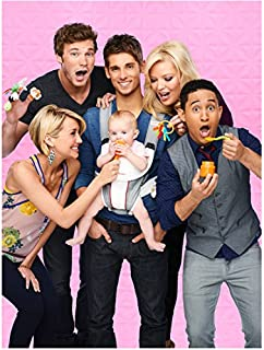 Baby Daddy Jean-Luc Bilodeau Holding Baby with Cast 8 x 10 Inch Photo