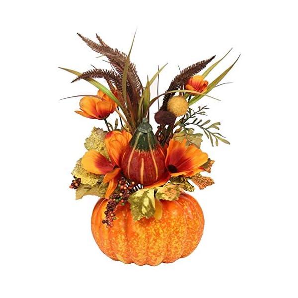 Haudang Artificial Pumpkin Flowers Bonsai Decoration,Fruit Ornament Table Props for Halloween Thanksgiving Autumn Decoration