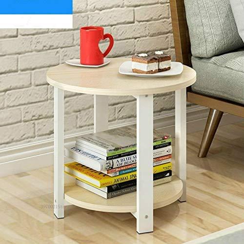 DACHENGJIN Productos de calidad Mesa de centro de madera for el hogar de tamaño pequeño Simple Sala de estar moderna Sofá Dormitorio Mesa de té redonda, Tamaño: 50 * 50 * 43 cm (madera de cerezo de ar
