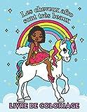 Les cheveux afro sont très beaux - Livre de Coloriage: Cahier pour les Filles d'origine Africaine   Avec des Coiffures cool comme des Tresses, des ... et des Cheveux Afro bouclés (French Edition)