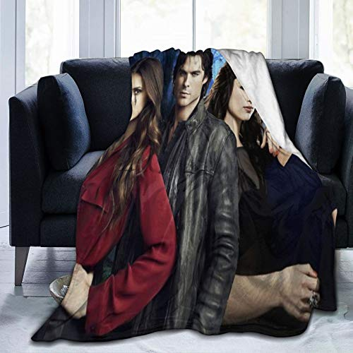 Wteqofy The Vampire Diaries Throw Blanket Fleece Warm Blanket Throw Size Lightweight Super Soft Cozy Bed Blanket Microfiber for Adults Teenager 50x40 inches