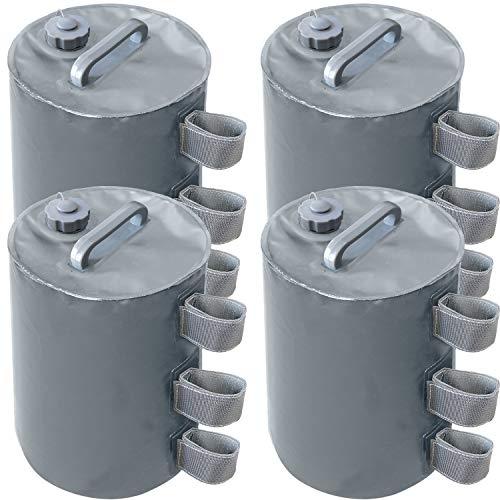 MasterCanopy Canopy Bolsa de peso de agua, peso para patas para toldo plegable, paquete de 4 unidades, color gris