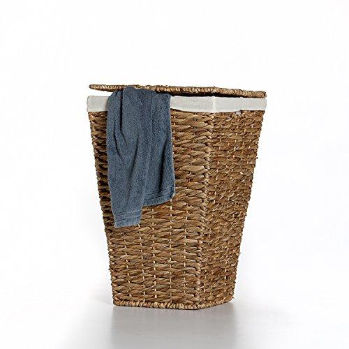 """Casa Mina Wäschekorb Wäschebox Wäschesammler aus Wasserhyazinthe\""""Brunei\"""" 50cm"""