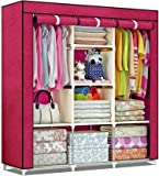 VARIOUS STORAGE SPACE: This size 170 x 45 x 170 wardrobe features plenty space inside to divide it into different section for classify storage, side shelves stop the clothes falling down from the gaps. EXTRA BOTTOM SPACE: extra space underneath the w...