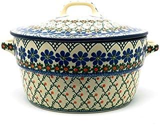 Polish Pottery Baker - Round Covered Casserole - Primrose
