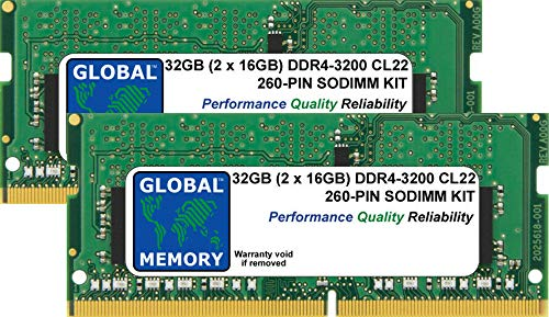 Price comparison product image 32GB (2 x 16GB) DDR4 3200MHz PC4-25600 260-PIN SODIMM MEMORY RAM KIT FOR LAPTOPS / NOTEBOOKS