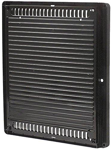 Horeca-Select afdekking voor ventilator breedte 425mm zwart hoogte 36mm kunststof diepte 380mm