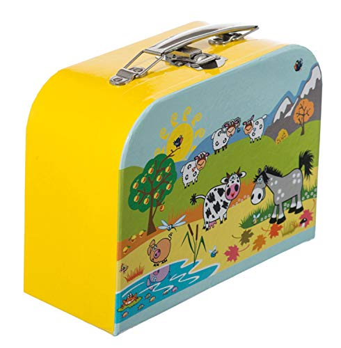 BIECO 04003021 Siva ''Suitcase Animal Motif Small '', Yellow (Gelb), 20 Centimeters
