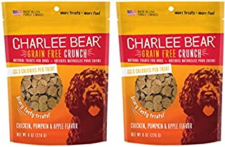 Charlee Bear Grain-Free Bear Crunch Chicken, Pumpkin & Apple Flavor - 2 Pack (16oz total)