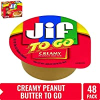 Jif To Go Smooth and Creamy Texture Peanut Butter 48-1.5 Ounce Cups