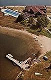 Aerial View, Old Mill Point, Cedar Campus Cedarville, Michigan MI Original Vintage Postcard