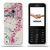 für Nokia 230 Hülle, FUBAODA [Peach Blossom] Transparent Silikon Clear TPU Fashion Kreatives Design Anti-Scratch Smart Schutz Slim Fit Shockproof Flexible 3D zeitgenössischen Chic Design für Nokia 230