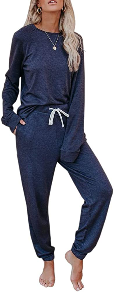 Eurivicy Women's Solid Sweatsuit Set Pullove Piece 2 Sleeve Long Sale Ranking TOP15 price
