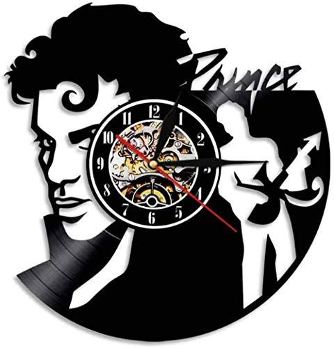 Hombre Tocando la Guitarra Música Disco de Vinilo Reloj de...
