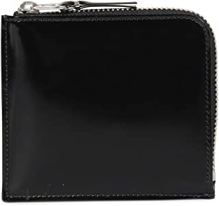 COMME des GARCONS MIRROR INSIDE COIN CASE コムデギャルソン 財布 小銭入れ コインケース L字ファスナー 本革 ブラック 黒 SA3100MI [並行輸入品]