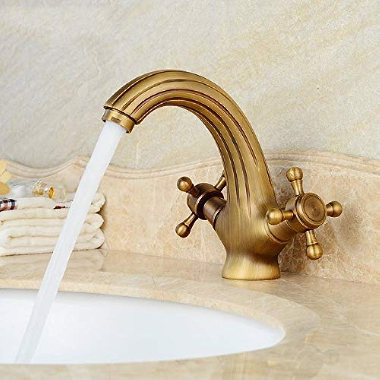 SEBAS HOME Taps Copper Antique Faucet Retro Hot And Cold Faucet European Basin Single Hole Washbasin Faucet