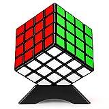 TOYESS Cubo de Mágico 4x4 Profesional, Cubo de Velocidad Clásico Rompecabezas 3D Rápido Todas Las Edades, Negro