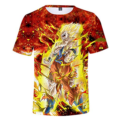 Nicoole Camiseta Dragon Ball Z 3D Camiseta De Verano para Hombre Camiseta Divertida De Goku Camiseta De Dragon Ball De Anime Camiseta Estampada De Dibujos Animados De Verano,XXXL