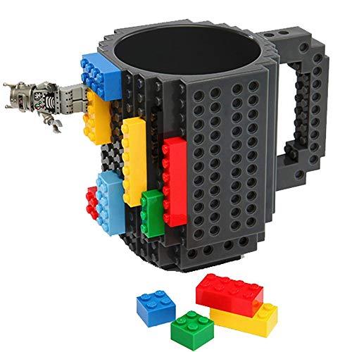 Freeship Deals Creation Blocks koffiemok, puzzel speelgoed mok (uniek grappig kerstcadeau-idee) zwart