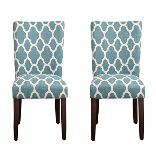 HomePop Parsons Classic Upholstered Accent Dining Chair, Set of 2,...