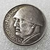 YunBest 1943 Monedas históricas antiguas de Italia - Gran Italia Moneda Conmemorativa Vieja - Moneda Italiana Vieja Gran Descubrir Historia de Monedas BestShop