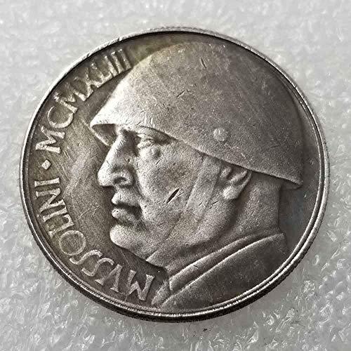 DDTing 1943 seltene antike italienische Geschichte Münzen - Great Italy Alte Gedenkmünze - Italienische alte Münze - Große Entdeckungsgeschichte der Münzen goodService