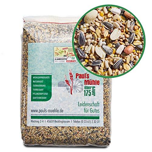 Paul´s Mühle Wildvogelfutter,Ganzjahresfutter für Wildvögel, 4-Jahreszeiten, 25 kg
