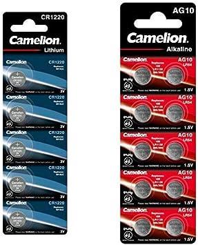 Camelion Cr1220 Lithium Knopfzelle 5er Blister Elektronik