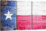 Stunning Views Multi Panel Lone Star State Texas Bandera Split Lienzo 3Piezas (24'x 36' Total)
