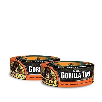 Gorilla Black Duct Tape 1.88  x 35 yd Black  Pack of 2
