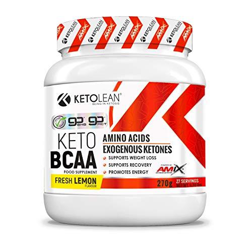 Amix KetoLean Keto BCAA Amino Acids Exogenous Ketones Support Weight Loss & Recovery (Fresh Lemon, 270 g)