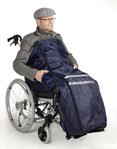 Hero Rollstuhlsack Fußsack Schlupfsack Rollstuhl Sack warmes Innenfutter Webpelz Polyester