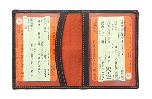 Mala Leather Odyssey Portatarjeta de Viaje de Cuero Suave 555_14 Marrón