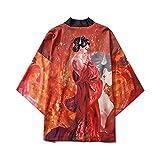 Mujeres Harajuku Cardigan Kimono Japonés Summer Carp Print Loose Shirt Tops Casual Mujer Hombre Kimonos Abrigo Pareja Yukata Kimonos-Style_H_M