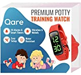 Premium Potty Training Watch - Only Watch with Multiple Alarms (16) to Fit Your Schedule & Easy to Use Smart Timer - Water Resistant - Both Vibration & Music - Kids Lock - Touchscreen-Easy Use (Red)