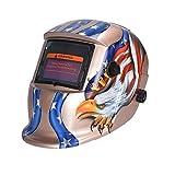 nuzamas funciona con energía solar auto oscurecimiento soldadura casco máscara de soldadura águila cara protección para Arc Tig Mig de Molienda de corte por plasma con pantalla