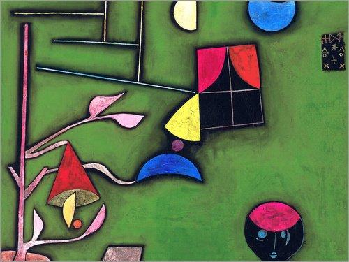 Hartschaumbild 40 x 30 cm: Stillleben mit Pflanze und Fenster von Paul Klee/ARTOTHEK