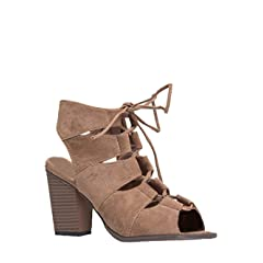 5fae2fc7458b0 Lace up block heel - Boots - Casual Women's Shoes