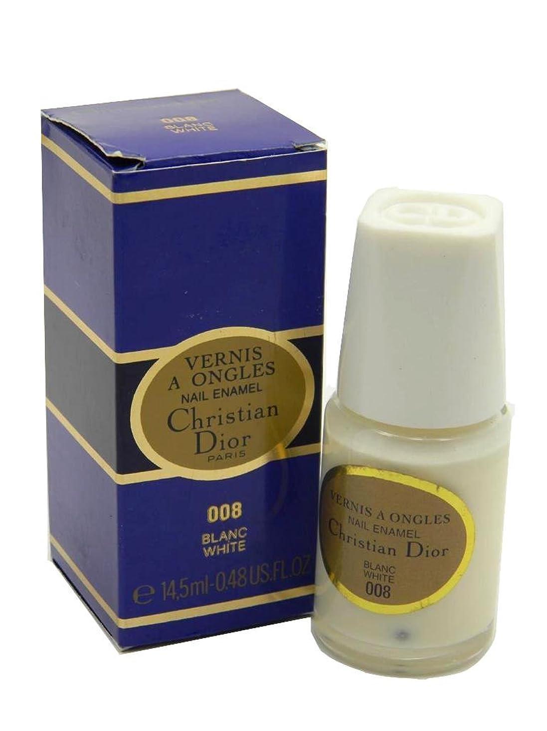 ドライバ僕の店主Dior Vernis A Ongles Nail Enamel Polish 008 White(ディオール ヴェルニ ア オングル ネイルエナメル ポリッシュ 008 ホワイト) [並行輸入品]