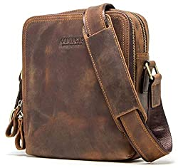 CONTACTS Genuine Leather Messenger Bag, Shoulder Bag, Handbag, Multi-Functional Travel (Hunter Brown),RECREATE ENGINEERING PRODUCTS PVT LTD., 83A, CHOWRINGHEE ROAD, KOLKATA - 700020., MOB - 90739 08504,COSLB09