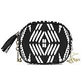 Diseño de bordado azteca, vector transparente, para mujer, de noche, para mujer, bandolera, fiesta formal, bolso para mujer, bolsos cruzados para mujer, decoración para niñas, pequeño bolso de hombro