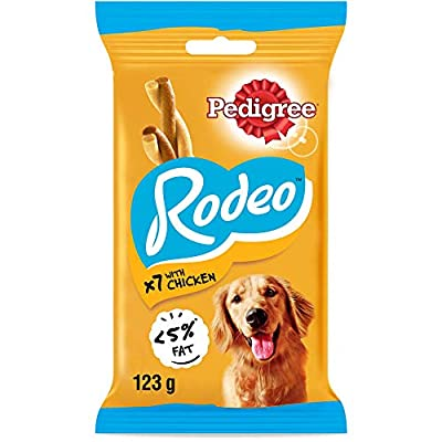 Pedigree Rodeo - Dog Treats with Chicken, 84 Sticks, 12 x 123 g