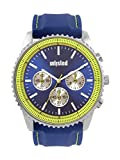 UNLISTED WATCHES Men's Sport Japanese-Quartz Watch with Silicone Strap, Blue, 24 (Model: 10030460)